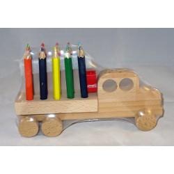 Camion avec crayons